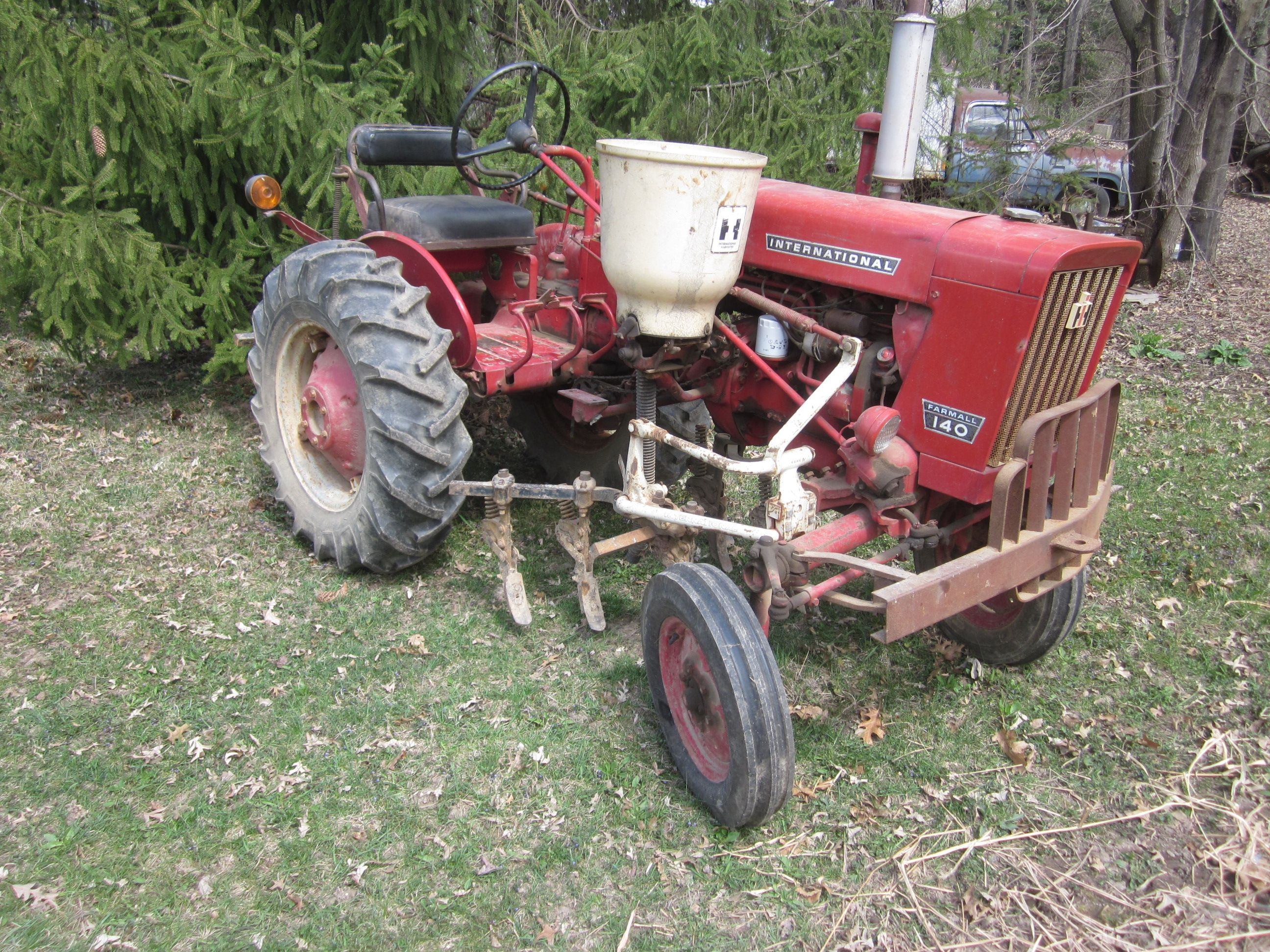 This Configuration Is The Same As Basic Cultivating Tractor Except It Also Has A Fertilizer Side Dresser Most Attachments Were On One